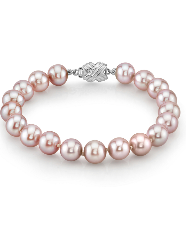 7-8mm Pink Freshwater Pearl Bracelet - AAAA Quality