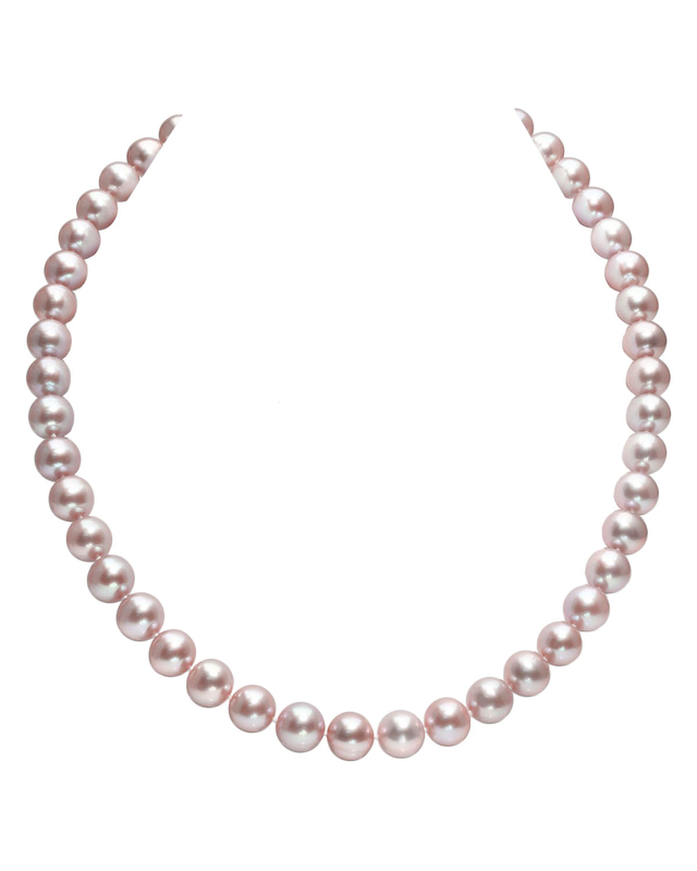 8.5-9.5mm Pink Freshwater Pearl Necklace - AAA Quality