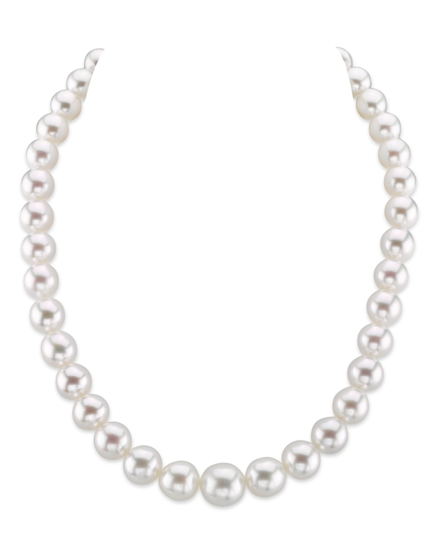 9-12mm White South Sea Pearl Necklace-AAAA Quality