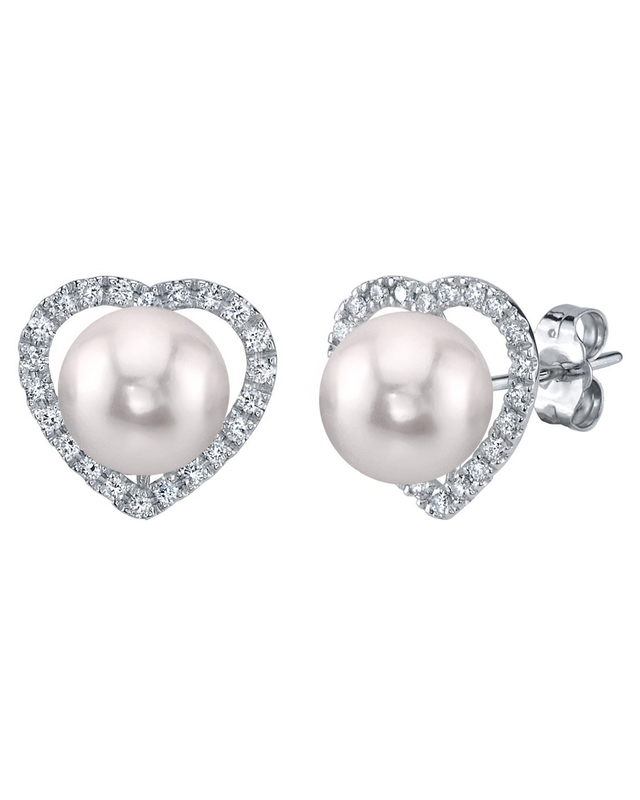 Akoya Pearl & Diamond Amour Earrings