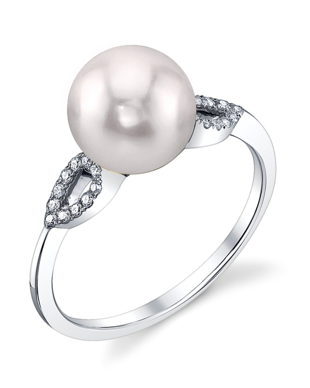 Akoya Pearl & Diamond Callie Ring