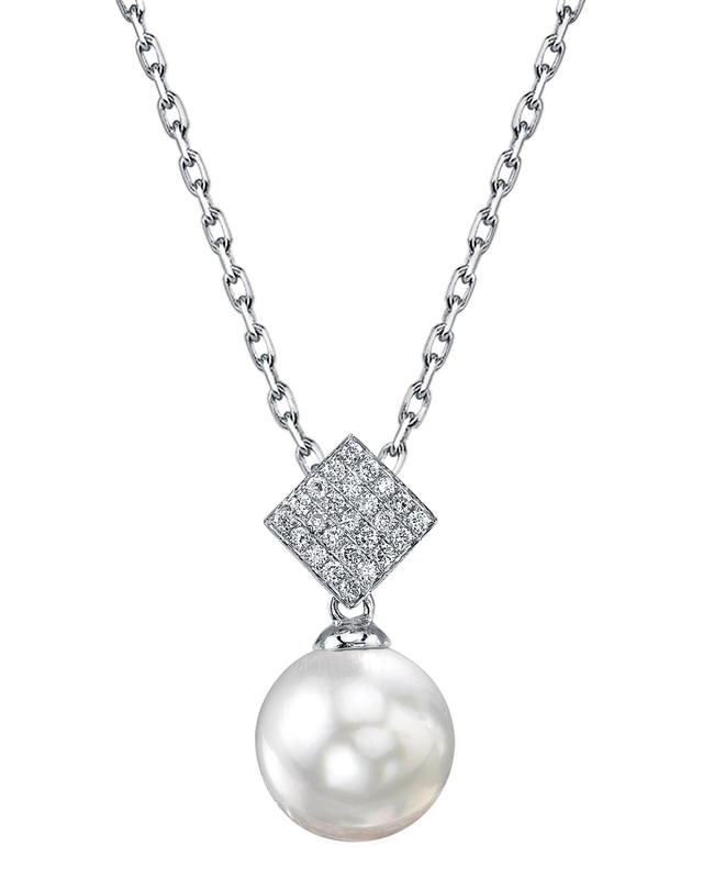 South Sea Pearl & Diamond Lizzie Pendant
