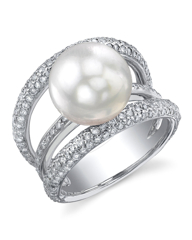 South Sea Pearl & Diamond Eternity Ring