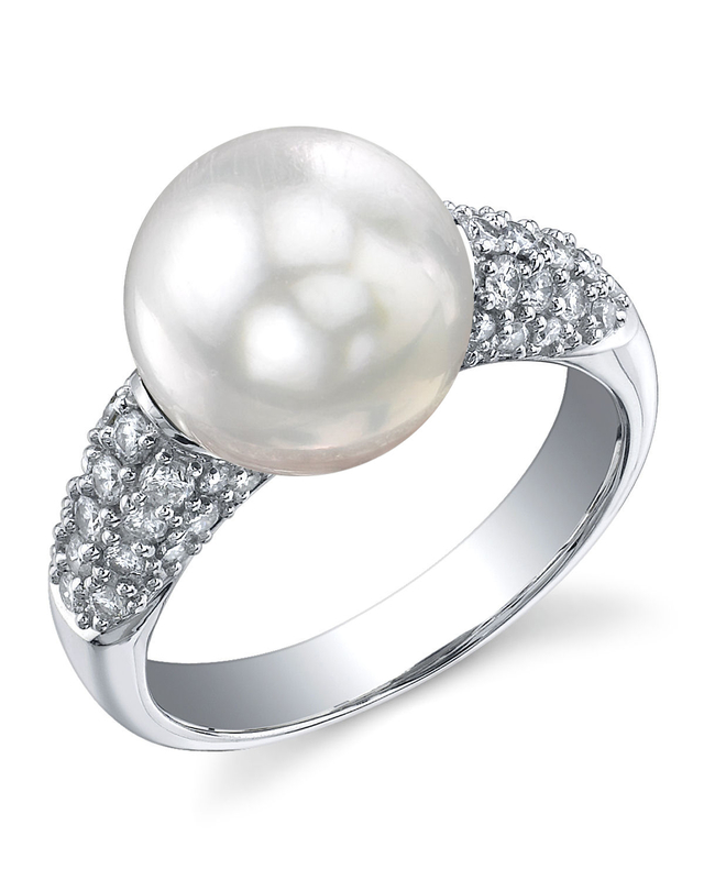 South Sea Pearl & Diamond Serenity Ring