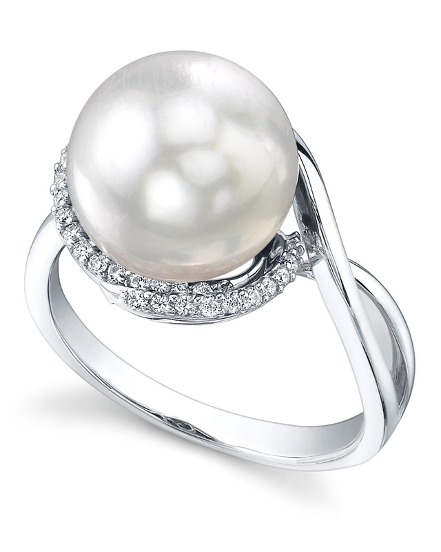 South Sea Pearl & Diamond Summer Ring