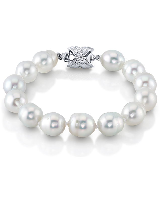9-10mm White South Sea Baroque Pearl Bracelet