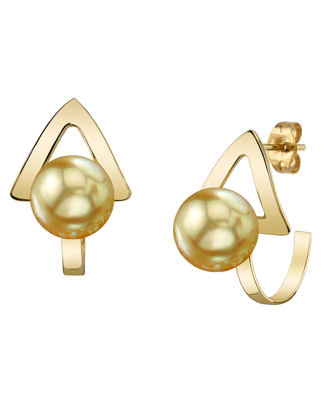Golden South Sea Pearl Triana Earrings