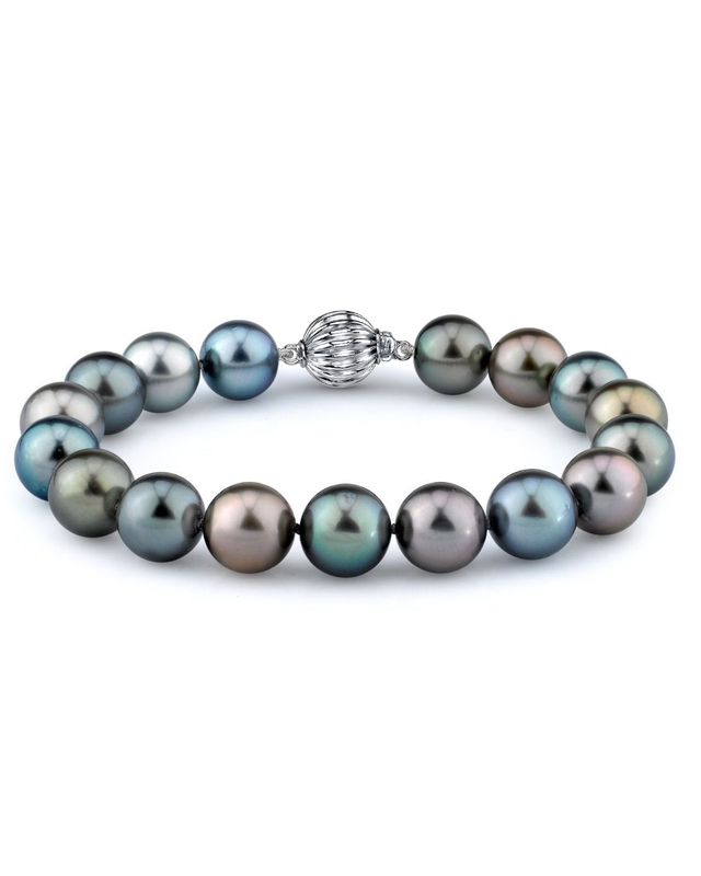 9-10mm Tahitian South Sea Multicolor Pearl Bracelet - AAA Quality