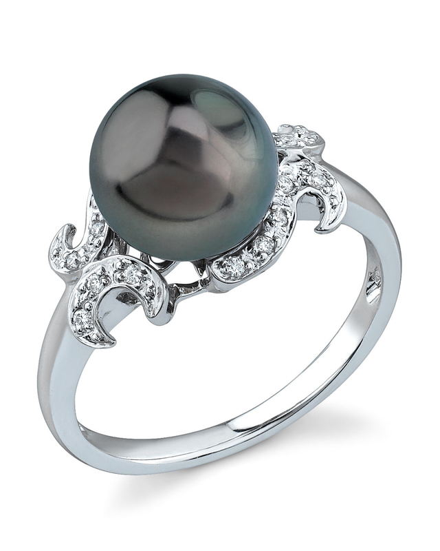 Tahitian South Sea Pearl Crown Jewel Ring