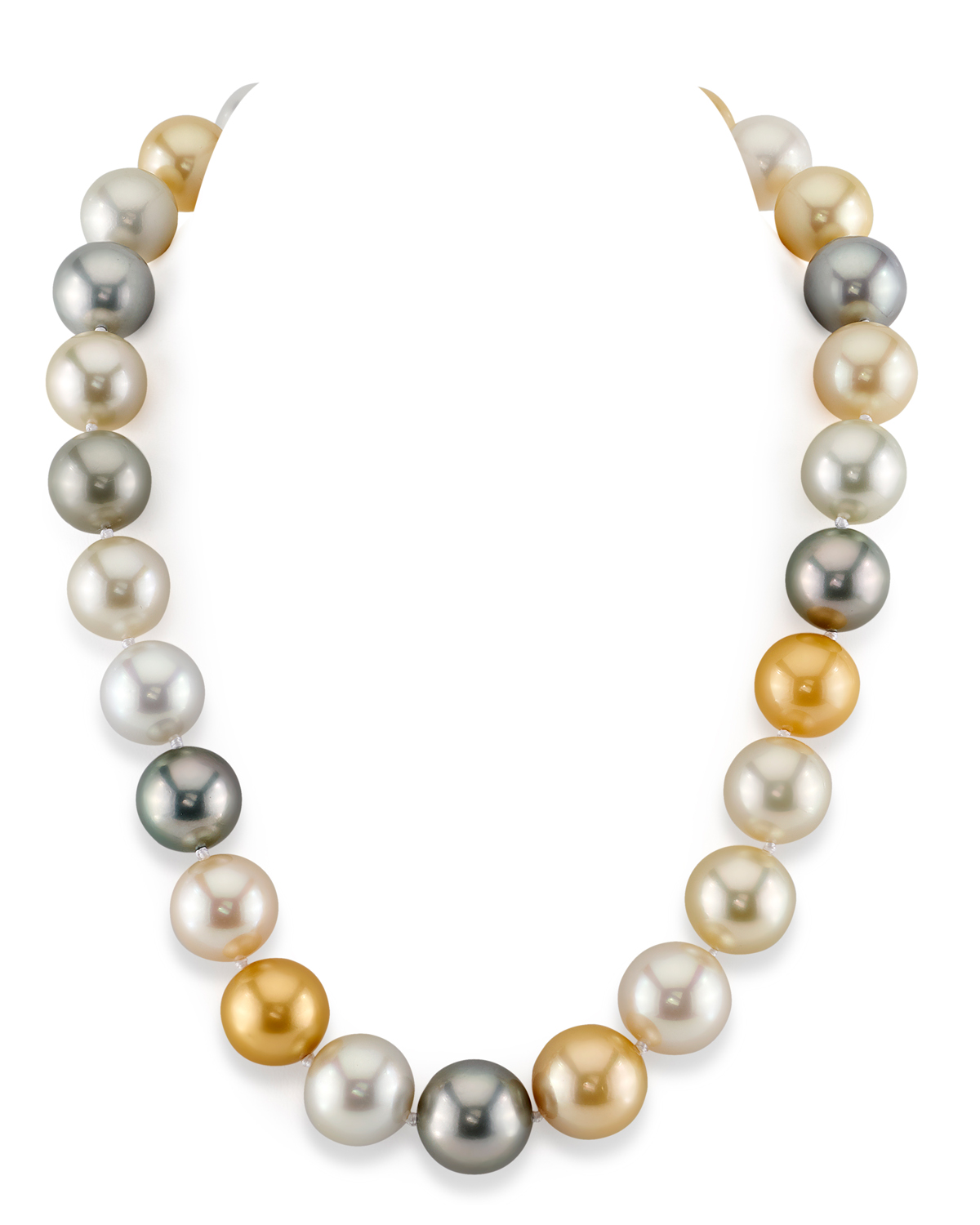 14-16mm South Sea Multicolor Pearl Necklace - AAAA Quality