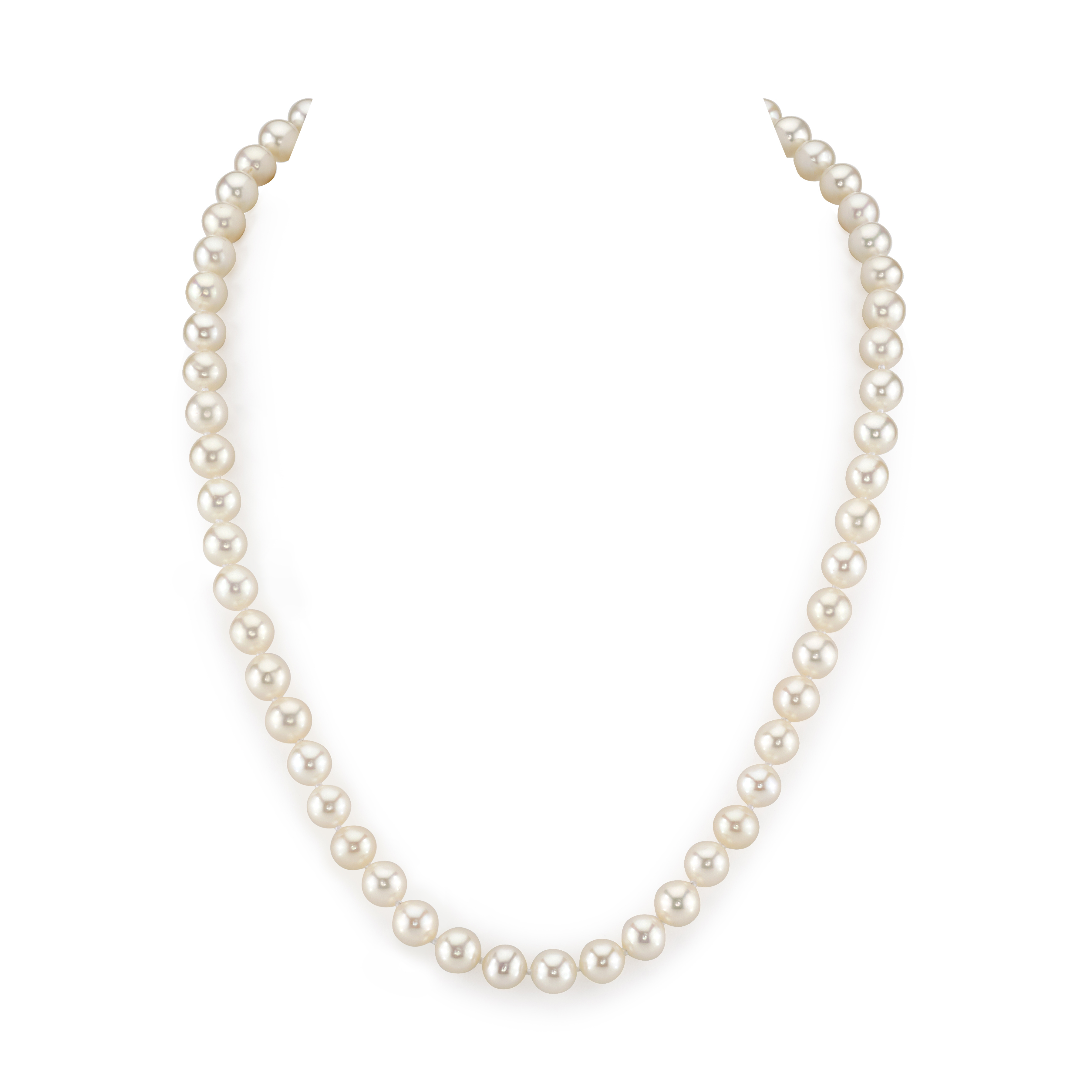 7-8mm White Freshwater Choker Length Pearl Necklace
