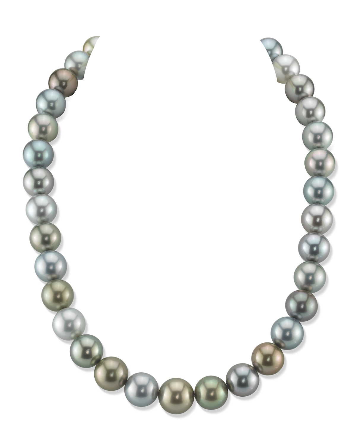 13-14mm Tahitian South Sea Light Multicolor Pearl Necklace - AAAA Quality