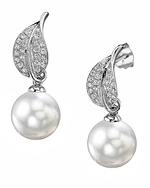 South Sea Pearl & Diamond Eva Earrings