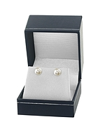8.0-8.5mm White Akoya Pearl Stud Earrings - Fourth Image