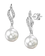 South Sea Pearl & Diamond Suzanna Earrings
