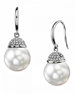 South Sea Pearl & Diamond Emma Earrings
