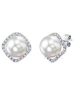 White South Sea Pearl & Diamond Ella Earrings