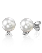White South Sea Pearl & Diamond Sasha Earrings
