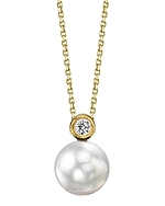White South Sea Pearl & Diamond Dakota Pendant