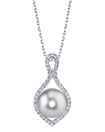 South Sea Ruth Pearl & Diamond Pendant