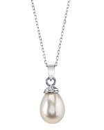 Drop-Shape Freshwater Pearl Hope Pendant