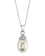 White Freshwater Cultured Pearl Devon Pendant