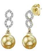 Golden South Sea Pearl & Diamond Harper Earrings