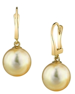 Golden Pearl Classic Elegance Earrings