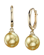 Golden South Sea Pearl Tania Earrings