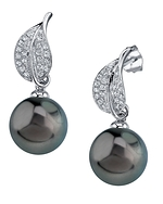 Tahitian South Sea Pearl & Diamond Eva Earrings