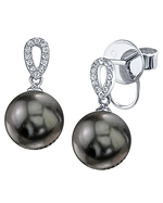 Tahitian South Sea Pearl & Diamond Callie Earrings