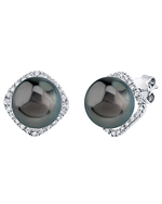 Tahitian South Sea Pearl & Diamond Ella Earrings