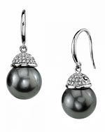 Tahitian South Sea Pearl & Diamond Emma Earrings