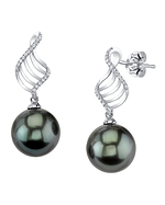 Tahitian South Sea Pearl & Diamond Jenny Earrings
