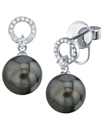 Tahitian South Sea Pearl & Diamond Joyce Earrings