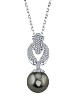 Tahitian South Sea Pearl & Diamond Casey Pendant