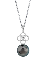 Tahitian South Sea Pearl & Diamond Lacy Pendant