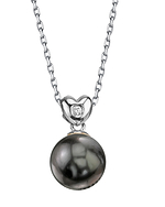 Tahitian South Sea Pearl & Diamond Lev Pendant
