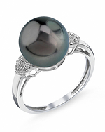 Tahitian South Sea Pearl & Diamond Shelby Ring