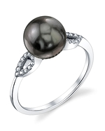 Tahitian South Sea Pearl & Diamond Callie Ring