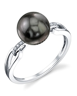 Tahitian South Sea Pearl & Diamond Holly Ring