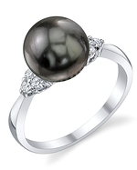 Tahitian South Sea Pearl & Diamond Scarlett Ring