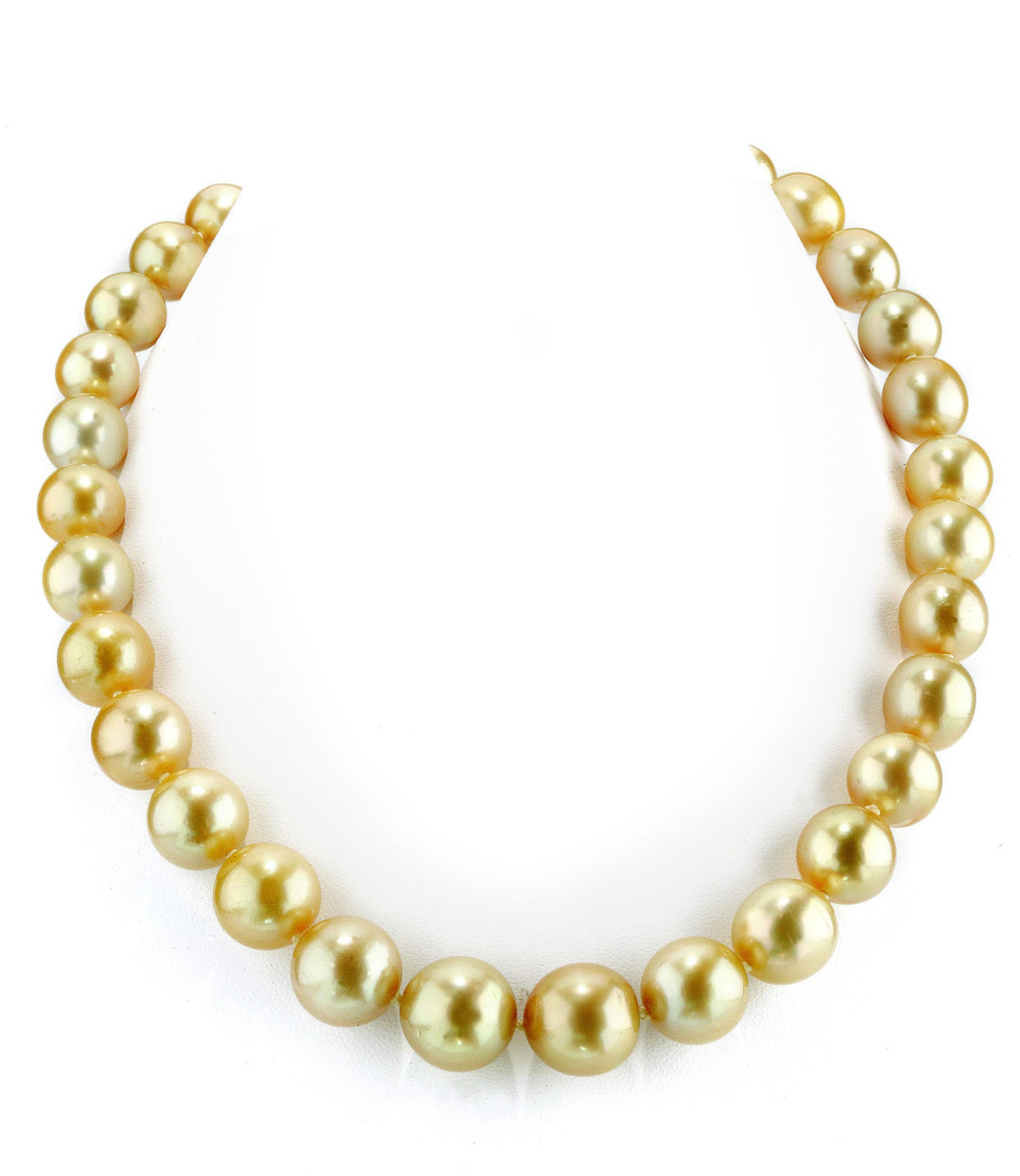 11-14mm Golden South Sea Pearl Necklace