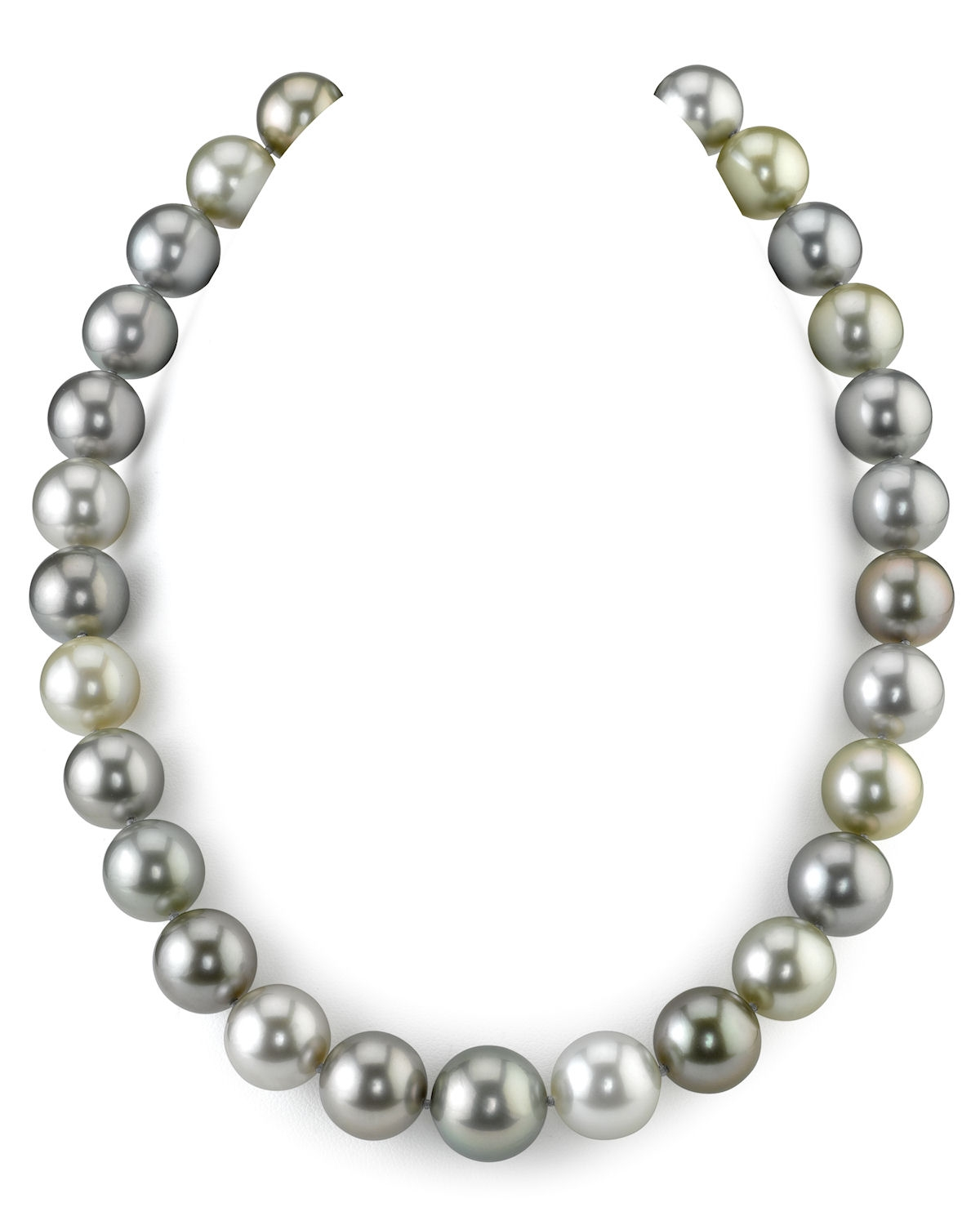 13-14.9mm Tahitian Pearl Multicolor Necklace - AAAA Quality