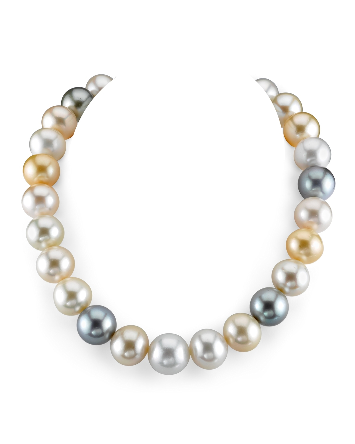 15-16.7mm South Sea Multicolor Pearl Necklace - AAA Quality