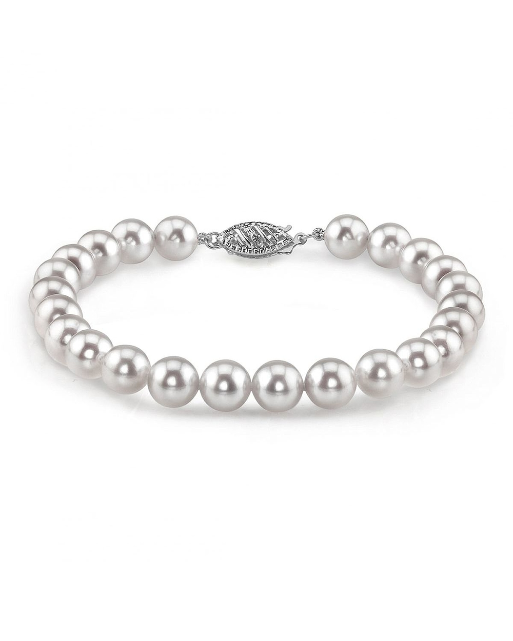 5.5-6.0mm Akoya White Pearl Bracelet - Choose Your Quality