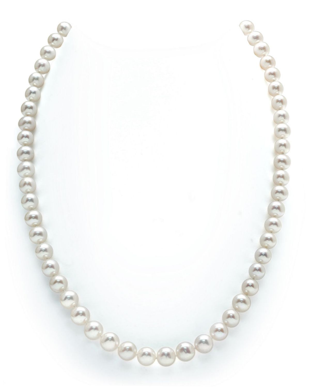 7-8mm White Freshwater Pearl Necklace - AAAA Quality