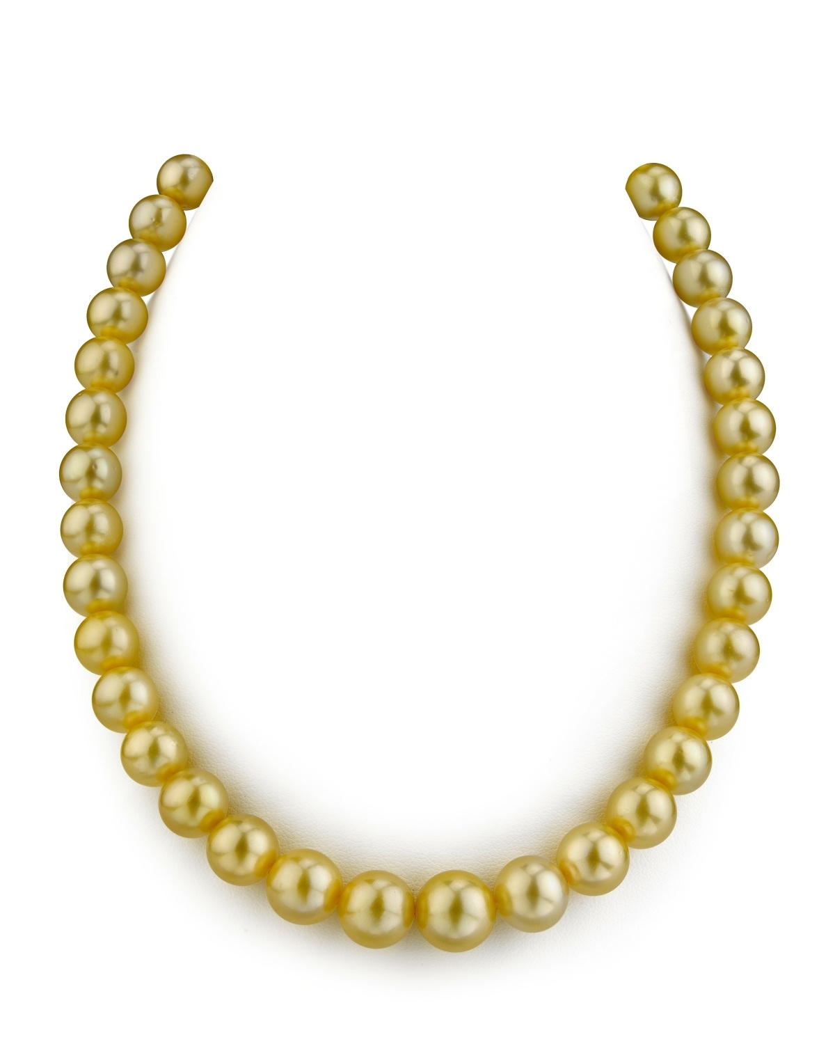 9-11mm Golden South Sea Pearl Necklace - AAAA Quality