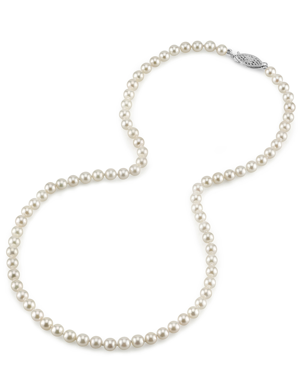 5.0-5.5mm Japanese Akoya White Pearl Necklace - AAA Quality