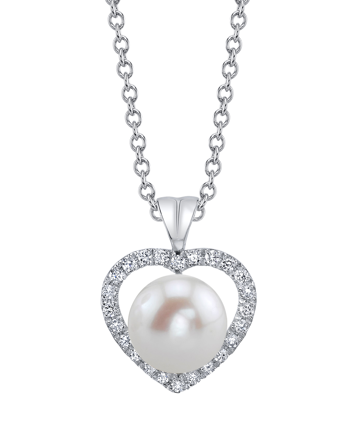 Freshwater Pearl & Diamond Amour Pendant